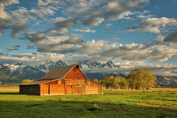 Photograph - Morning Light On Moulton Barn #2 by Joe Paul