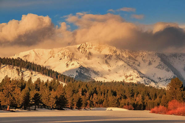 Lightroom Photograph - Morning Light On Tallac's Spring Snow by Mike Herron