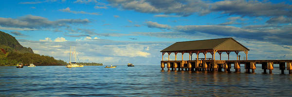 Photograph - Morning Light On The Hanalei Pier by James Eddy