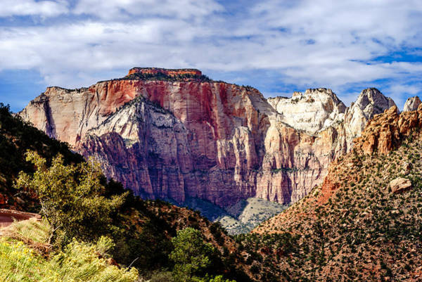 Photograph - Morning Light On Zion's West Temple by TL  Mair