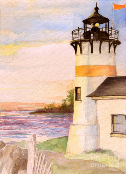 Painting - Morning, Lighthouse by Nancy Watson