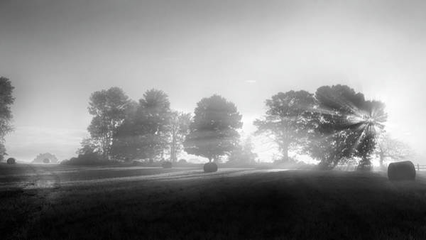 Wall Art - Photograph - Morning Lights Bw by Bill Wakeley