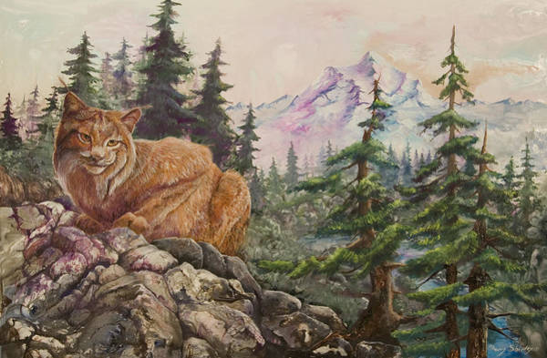 Painting - Morning Lynx by Sherry Shipley
