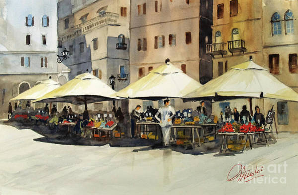 Painting - Morning Market by Gerald Miraldi