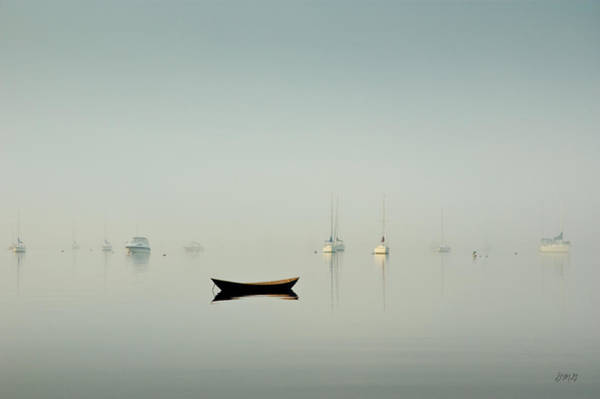 Morning Mist Bristol Harbor Art Print