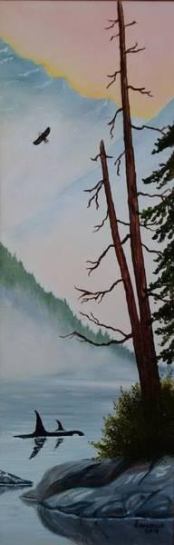 Wall Art - Painting - Morning Mist by Gerda Pobrislo
