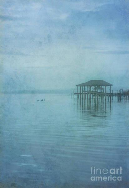 Wall Art - Digital Art - Morning Mist In Blue by Randy Steele