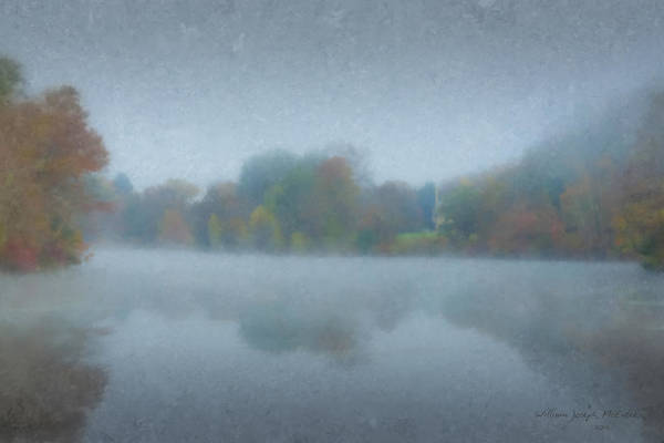 Painting - Morning Mist On Langwater Pond by Bill McEntee