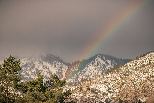 Herron Photograph - Morning Mountain Rainbow by Mike Herron