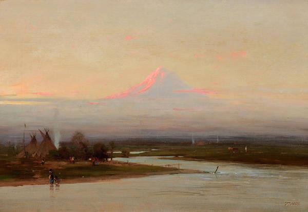 Tacoma Painting - Morning, Mt. Tacoma, Rainier by Thomas Hill