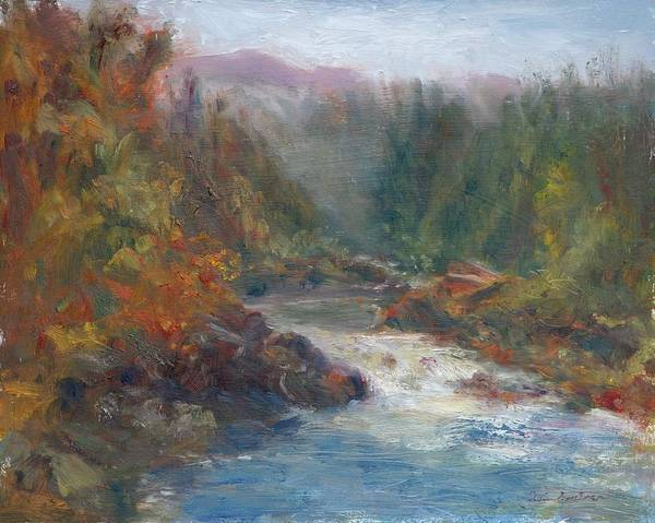Painting - Morning Muse - Original Contemporary Impressionist River Painting by Quin Sweetman