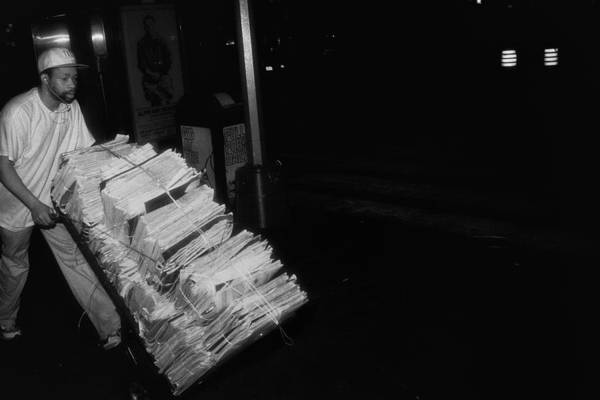 Photograph - Morning Newspaper Delivery by Dave Beckerman