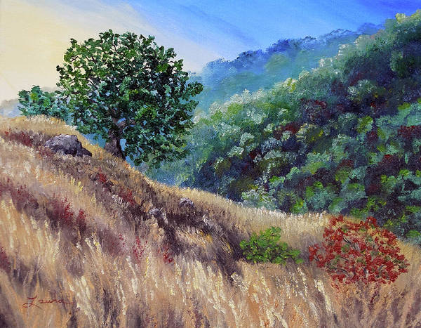 Area Painting - Morning On A Hilltop by Laura Iverson