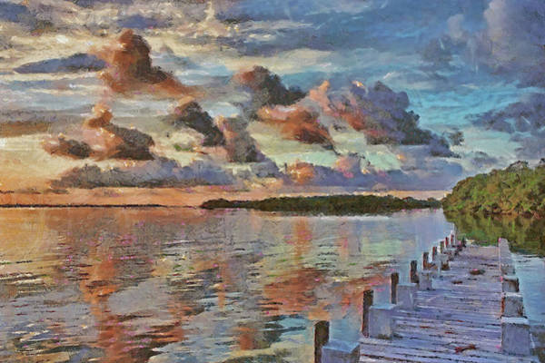 Dock Of The Bay Photograph - Morning On The Bay by HH Photography of Florida