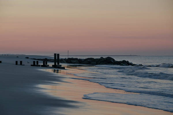 Jetti Wall Art - Photograph - Morning On The Beach At Cape May by Bill Cannon