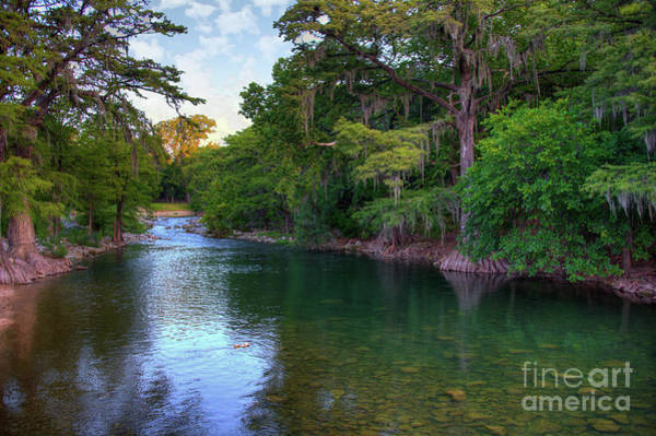 New Braunfels Photograph - Morning On The Guadalupe River by Kelly Wade