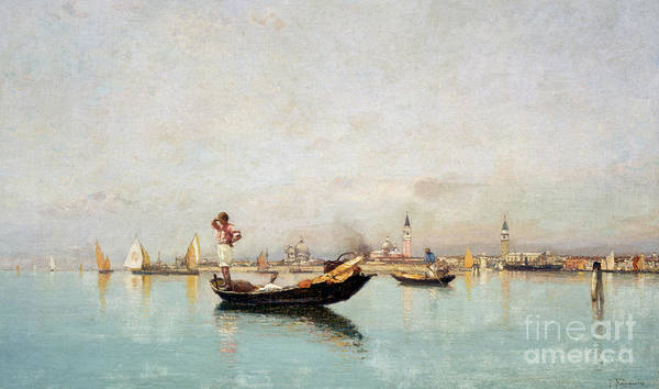 Wall Art - Painting - Morning On The Lagoon by Pietro Fragiacomo