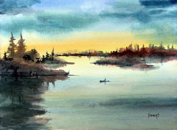 Painting - Morning On The Lake by Sam Sidders