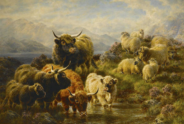 Ram Painting - Morning On The Mountains by William Watson