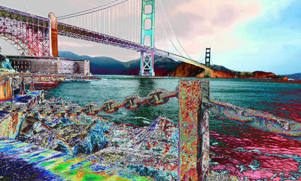 Morning On The San Francisco Bridge Art Print