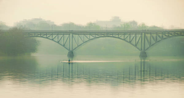 Photograph - Morning On The Schuylkill River - Strawberry Mansion Bridge by Bill Cannon