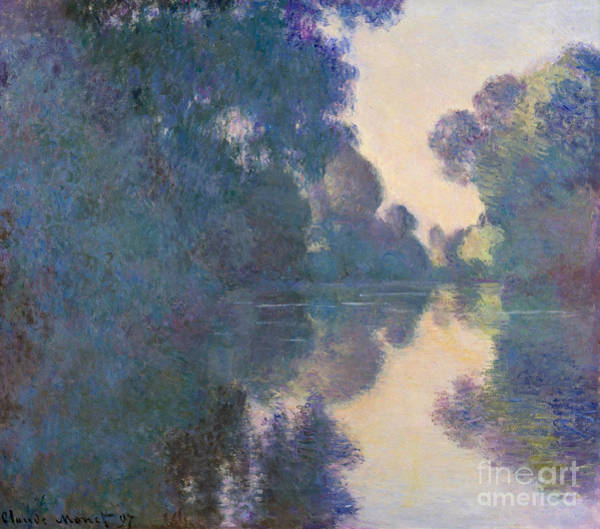 1897 Painting - Morning On The Seine Near Giverny, 1897 by Claude Monet