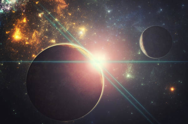 Wall Art - Digital Art - Morning Over The Planet X by Martin Capek