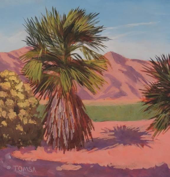 Lone Tree Painting - Morning Palm Tree - Art By Bill Tomsa by Bill Tomsa