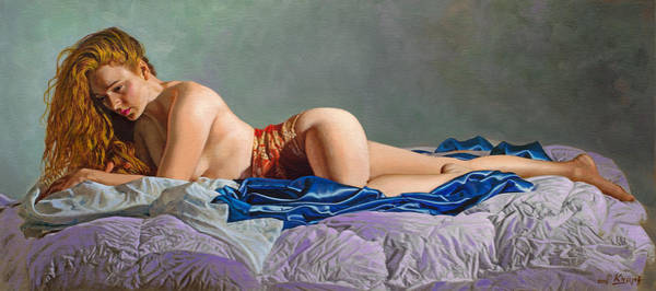 Bed Painting - Morning by Paul Krapf