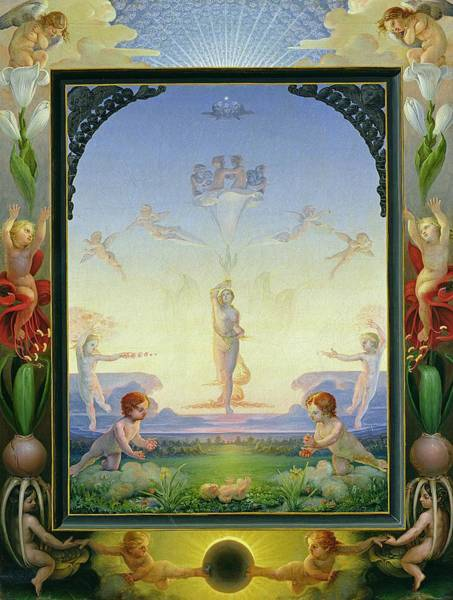 Bulbs Painting - Morning by Philipp Otto Runge