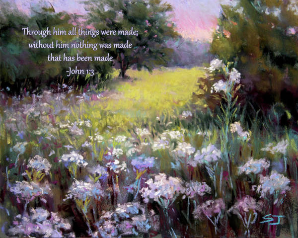 Painting - Morning Praises With Bible Verse by Susan Jenkins