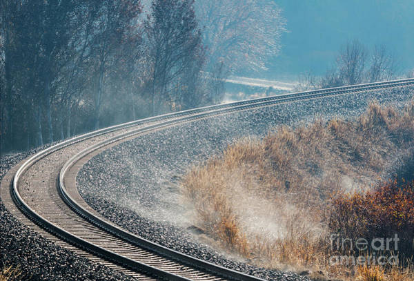 Wall Art - Photograph -  Morning Railway Curve by Mike Dawson