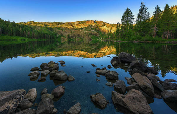 Photograph - Morning Reflection On Castle Lake by John Hight
