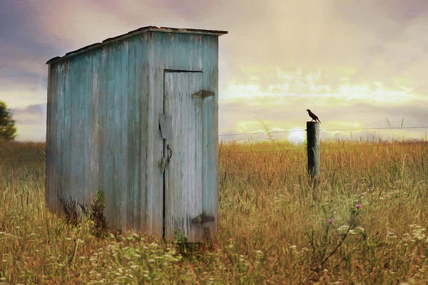 Outhouse Photograph - Morning Ritual by Lori Deiter