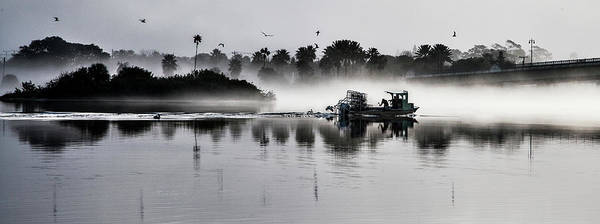 Crabbing Photograph - Morning Routine by Ted Petrovits III