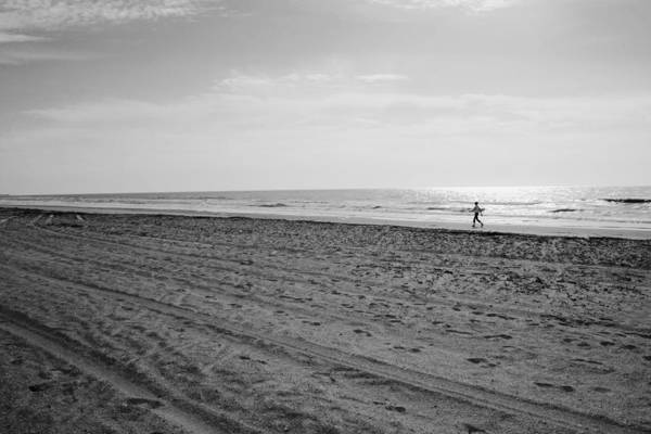 Photograph - Morning Run - Black And White by Angela Rath