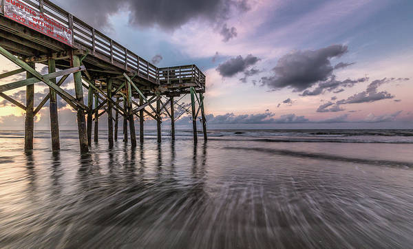 Photograph - Morning Rush Isle Of Palms by Donnie Whitaker