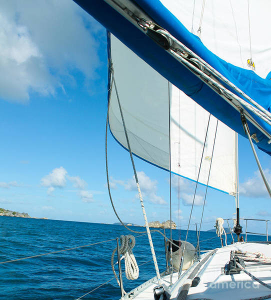Photograph - Morning Sail St. John by Julia Rigler