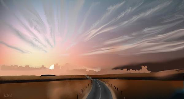Digital Art - Morning Sky by Brandy Beverly