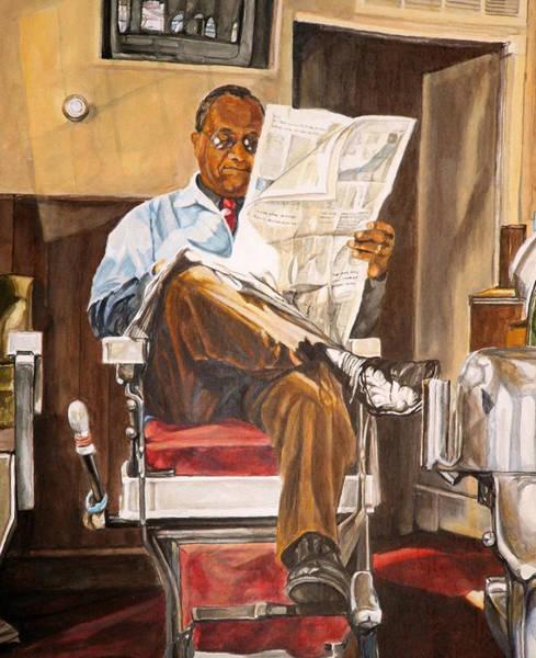 Barbershop Wall Art - Painting - Morning Slump by Thomas Akers