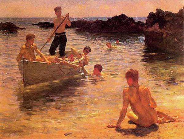 Painting - Morning Splendor  by Henry Scott Tuke