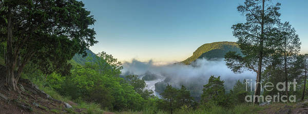 Delaware Photograph - Morning Steam Over The Delaware Water Gap by Michael Ver Sprill
