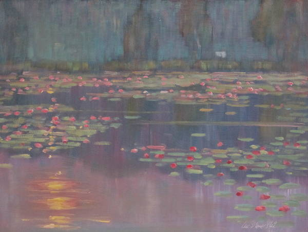 Lilly Pad Painting - Morning Sun by Len Stomski