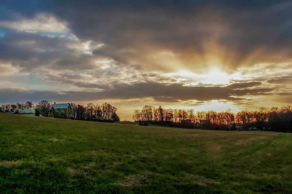 Photograph - Morning Sunburst Near Gettysburg Pa by Bill Cannon