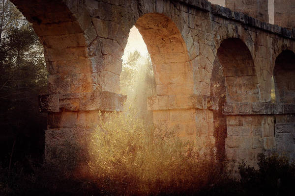 Photograph - Morning Sunlight At Roman Aqueducts Tarragona Spain by Joan Carroll