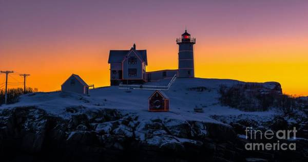 Photograph - Morning Sunrise At Cape Neddick/nubble Light. by New England Photography