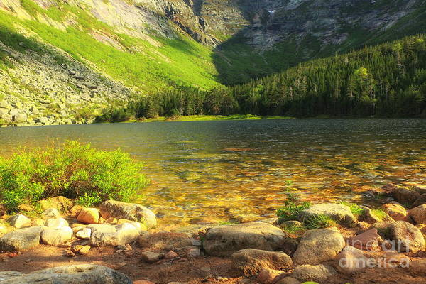 Lean-tos Photograph - Morning Sunrise On Chimney Pond by Elizabeth Dow