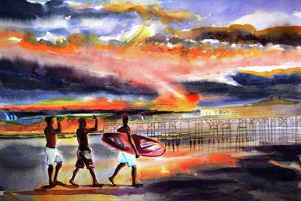 Painting - Morning Surfers  by Julianne Felton