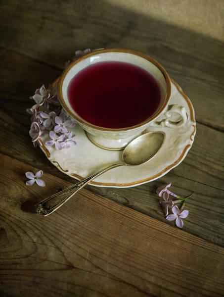 Wall Art - Photograph - Morning Tea With Lilacs by Jaroslaw Blaminsky