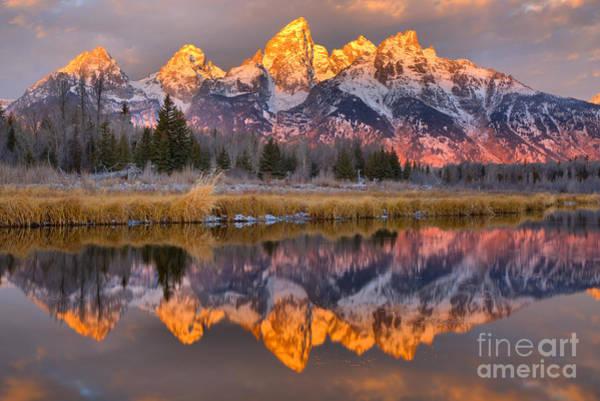 Photograph - Morning Teton Stripes by Adam Jewell